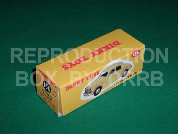 Dinky #156 Rover 75 Saloon - Reproduction Box ( Cream )
